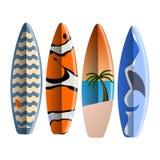 Uppsättning av surfingbrädor Arkivfoto