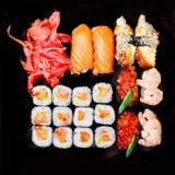 Uppsättning av sushi Royaltyfria Bilder