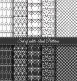 Uppsättning av svart vit Pattern7 Arkivfoto
