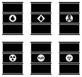 Uppsättning av svartbultar och skruv-muttrar på grafpapper med diagrammet Uppsättningen av olika illustrationsvartkonturer barrel royaltyfri illustrationer