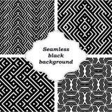 Uppsättning av svartvita modeller Fotografering för Bildbyråer
