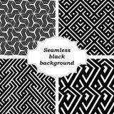 Uppsättning av svartvita modeller Arkivfoto