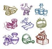 Uppsättning av symboler. Royaltyfri Fotografi
