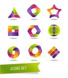 Uppsättning av symboler Royaltyfria Bilder