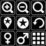 Uppsättning av symboler (andra) Arkivbilder