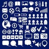 Uppsättning av symboler av ett socialt nätverk Arkivfoton