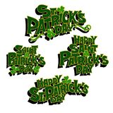 Uppsättning av symboler för den StPatricks dagen royaltyfri illustrationer