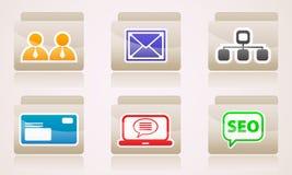 Uppsättning av symboler för din skrivbords- mapprengöringsduk Arkivfoto