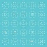 Uppsättning av symboler för internet, Fotografering för Bildbyråer