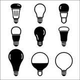Uppsättning av symboler för ljus kula vektor illustrationer