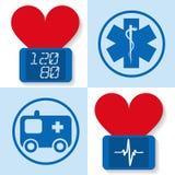 Uppsättning av symboler för medicin - vektorillustration Royaltyfri Foto