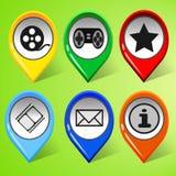 Uppsättning av symboler för socialt nätverk 1 vektor illustrationer