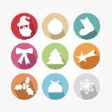 Uppsättning av symboler - jul vektor illustrationer
