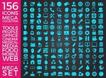 Uppsättning av symboler, kvalitets- design för symbolssamlingsvektor Arkivfoto