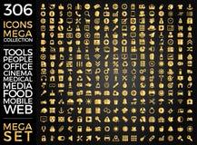 Uppsättning av symboler, kvalitets- design för symbolssamlingsvektor Arkivfoton