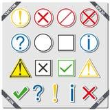 Uppsättning av symboler och tecken, vektorillustration Arkivfoto