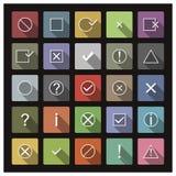 Uppsättning av symboler och tecken, vektorillustration Arkivfoton