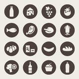 Uppsättning av symboler på en temamat vektor illustrationer