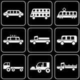 Uppsättning av symboler - transport, lopp, vilar Royaltyfri Fotografi