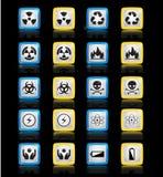 Uppsättning av symbolsenergi Arkivfoton