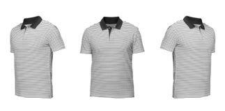 Uppsättning av t-skjortor som isoleras på vit bakgrund Arkivfoton