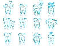 Uppsättning av tandläkekonstsymboler Arkivfoton