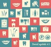 Uppsättning av tandläkekonstsymboler, del 2 Arkivfoto