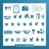 Uppsättning av tandläkekonstsymboler, del 2 Arkivbild