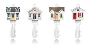 Uppsättning av tangenter för litet hus som isoleras på vit bakgrund, vektor royaltyfri illustrationer