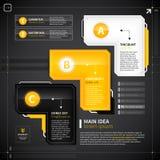 Uppsättning av 3 technoalternativ Arkivfoton