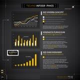 Uppsättning av technobeståndsdelar för infographic design Arkivbilder