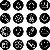 Uppsättning av tecken eller symboler Arkivbilder