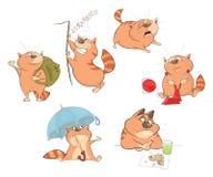 Uppsättning av tecknad filmillustrationen Gulliga katter för dig design royaltyfri illustrationer