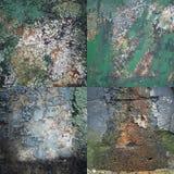 Uppsättning av texturer av den gamla skadade väggen Royaltyfri Foto