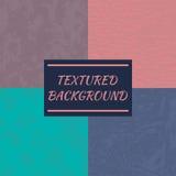 Uppsättning av 4 texturerade bakgrunder Arkivbild