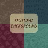 Uppsättning av 4 texturerade bakgrunder Royaltyfri Bild