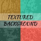 Uppsättning av 4 texturerade bakgrunder Arkivbilder