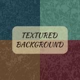 Uppsättning av 4 texturerade bakgrunder Arkivfoto