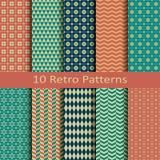 Uppsättning av tio retro modeller Arkivbild