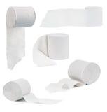 Uppsättning av toalettpapper arkivbild