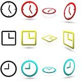 Uppsättning av tolv klockasymboler vektor illustrationer