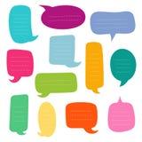 Uppsättning av tomma dialogaskar bubbles anförandevektorn vektor illustrationer