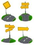 Uppsättning av tomma vägmärkebegrepp Arkivbild