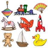 Uppsättning av toys royaltyfri illustrationer
