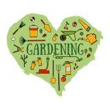 Uppsättning av trädgårds- utrustning Fotografering för Bildbyråer