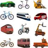 Uppsättning av transportsymboler Royaltyfria Bilder