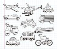Uppsättning av transportsymboler Fotografering för Bildbyråer