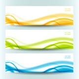 Uppsättning av tre abstrakta baner Fotografering för Bildbyråer