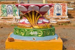 Uppsättning av tre altare på den Kothamangalam fyrkanten Arkivfoto