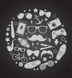 Uppsättning av trendiga mäns tillbehör illustrationbakgrund royaltyfri illustrationer